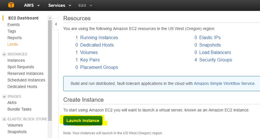 Launch Instance VPS Amazon