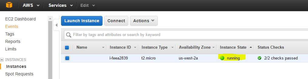 running VPS Amazon