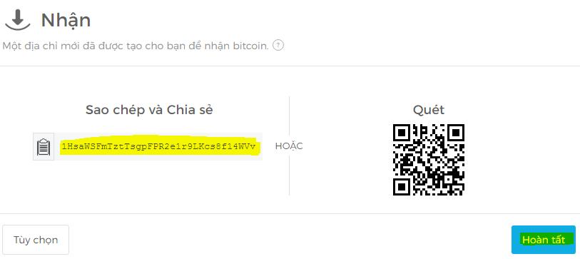 dia chi vi tien bitcoin
