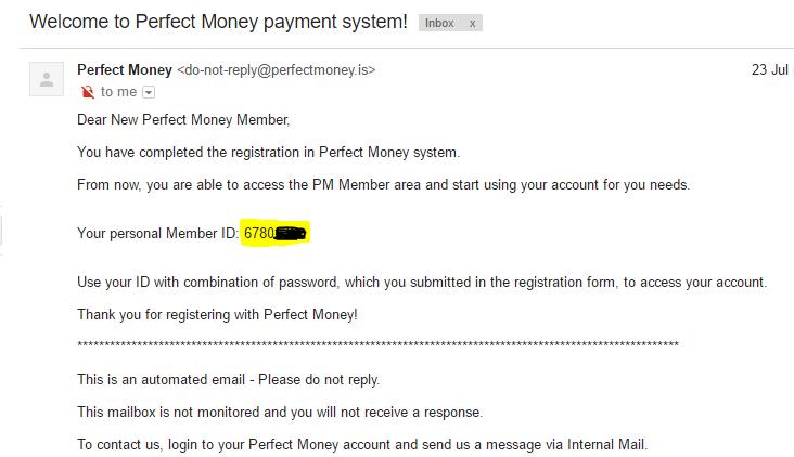 ID tai Khoan Perfect Money