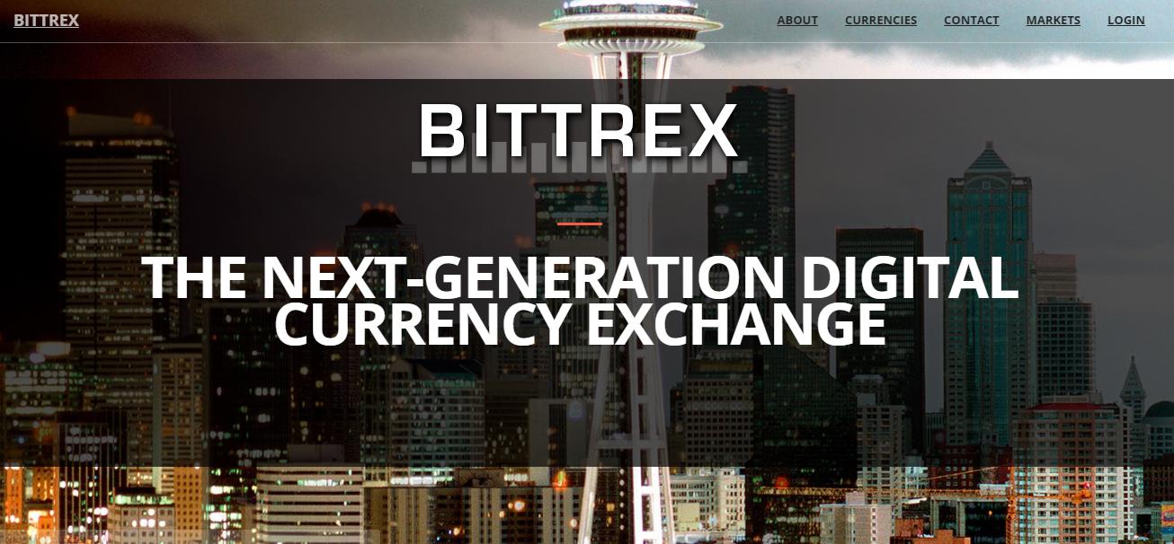 Giao diện trang chủ sàn Bittrex