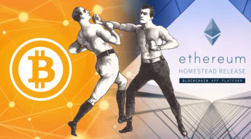 Ethereum va Bitcoin