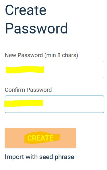 nhap password metamask